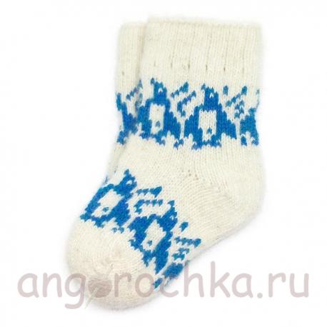 Детские шерстяные носки с пингвинами