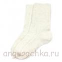 Белые подростковые шерстяные носки