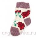 Детские шерстяные носки с розами