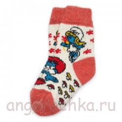 Детские шерстяные носки с мультяшками
