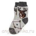 Теплые подростковые шерстяные носки с оленем