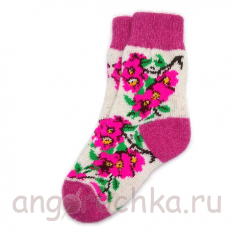 Женские шерстяные носки с цветами сакуры