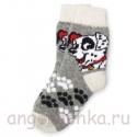 Женские шерстяные носки с далматином