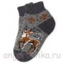 Короткие шерстяные носки с оленем
