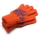 Женские шерстяные перчатки со снежинками
