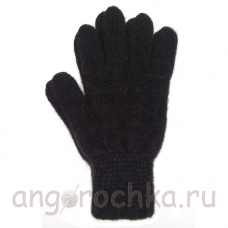 Черные шерстяные перчатки для сенсорных экранов
