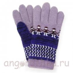 Цветные шерстяные перчатки с рисунком