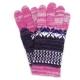 Цветные шерстяные перчатки со снежинками