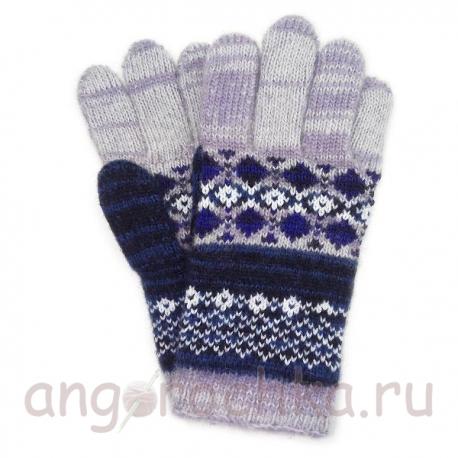Цветные шерстяные перчатки с орнаментом