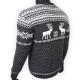 Серый шерстяной свитер с белым скандинавским рисунком