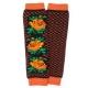 Яркие шерстяные гетры с цветами