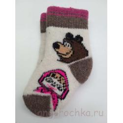 Носки с медведем и Машей