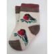 Детские носки со снегирем на ветке