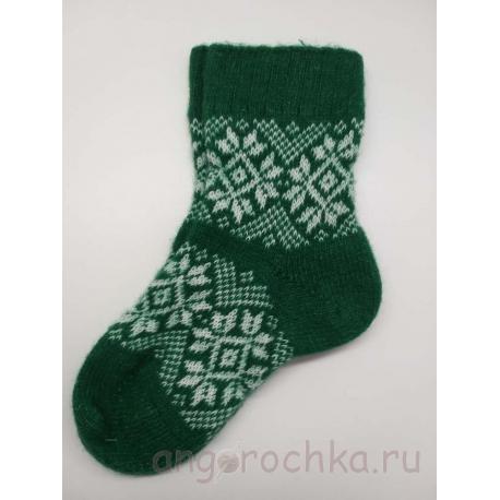 Носки зеленые шерстяные женские
