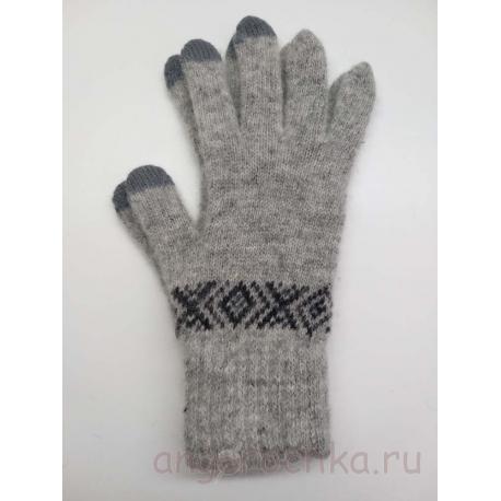 Серые перчатки мужские