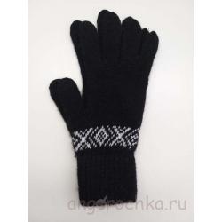 Сенсорные перчатки черного цвета