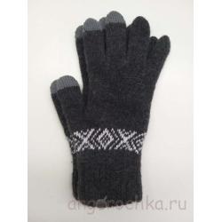 Темно-серые сенсорные перчатки