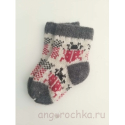 Детские носочки с божьей коровкой