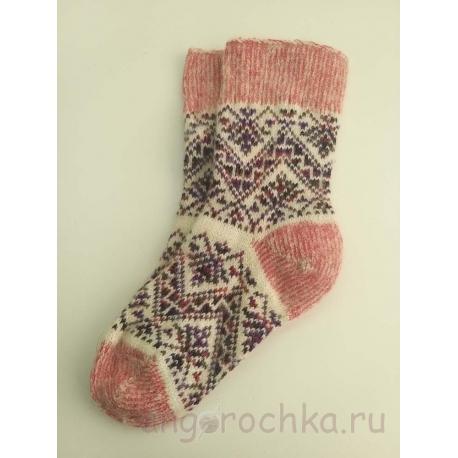 Женские носки с орнаментом шерстяные
