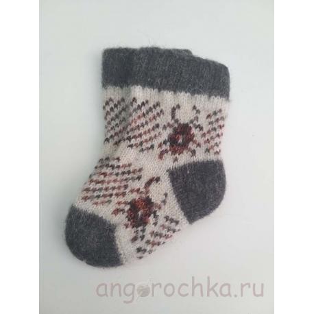 Детские носочки с жучком