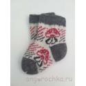 Шерстяные детские носочки с грибком