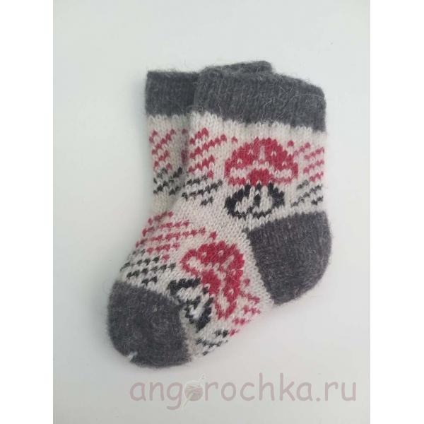 Шерстяные детские носочки с грибком - 211.80