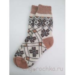 Женские носки с узором в коричневых тонах