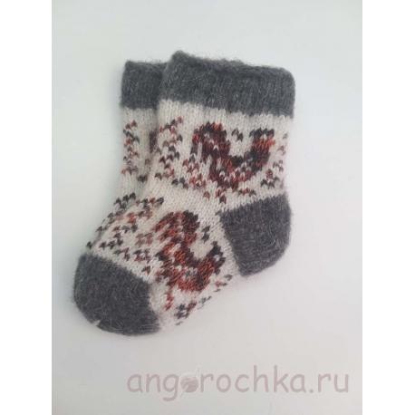 Шерстяные детские носки с петушком