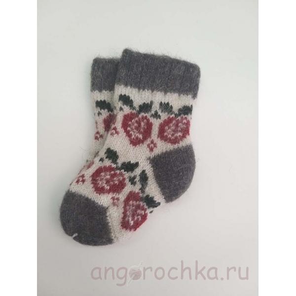 Детские носочки из шерсти с ягодкой - 211.82