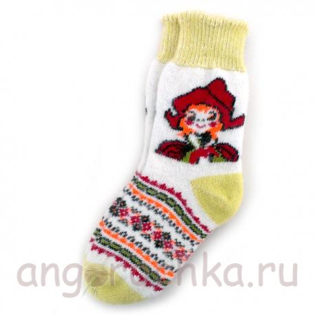 Носки шерстяные женские с Красной Шапочкой