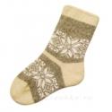 Женские шерстяные носки со снежинкой