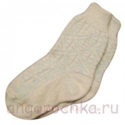 Бесшовные женские однотонные вязаные носки с резинкой