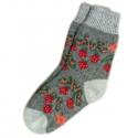 Женские шерстяные носки с ягодами