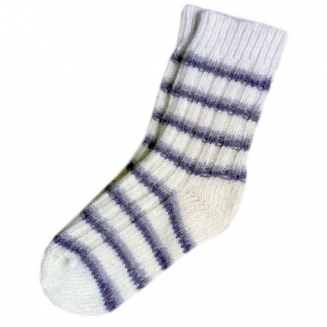 Женские белые носки с полосками