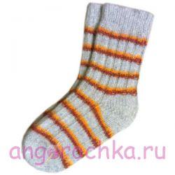 Женские шерстяные носки с полосками