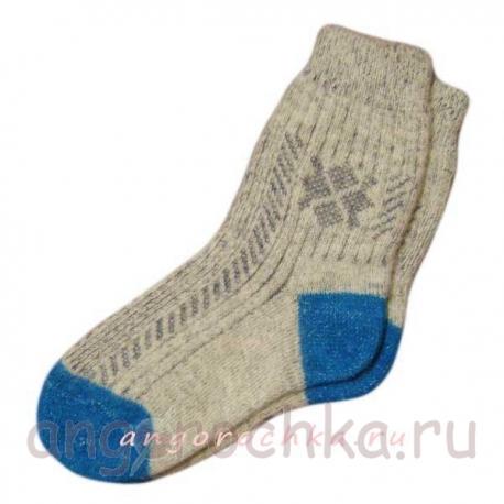 Женские носки с резинкой и усиленной пяткой