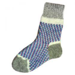 Женские шерстяные вязаные носки с ярким орнаментом