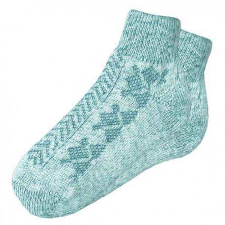 Теплые женские вязаные шерстяные носки с резинкой