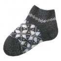 Укороченные вязаные женские шерстяные носки с орнаментом