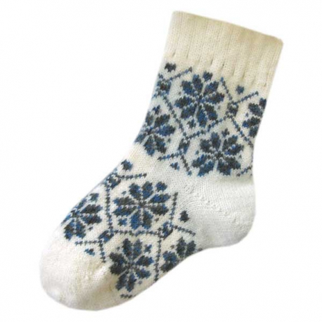 Женские вязанные шерстяные носки с рисунком