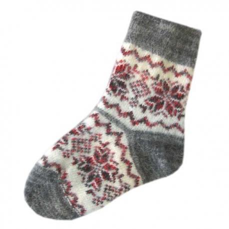 Женские вязанные шерстяные носки с орнаментом