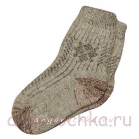 Женские носки с однотонным орнаментом