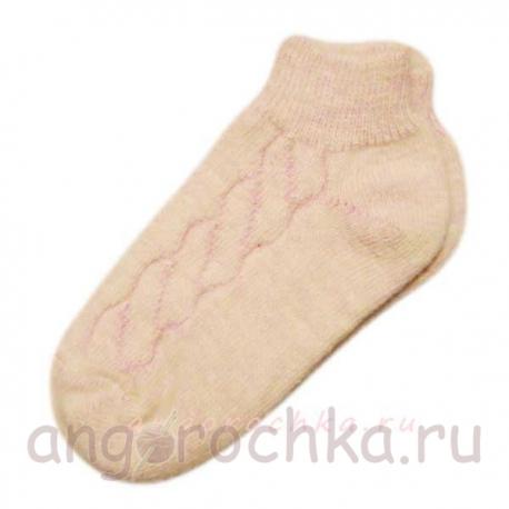 Кроткие однотонные женские носки с резинкой