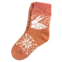 Детские шерстяные носки с рисунком
