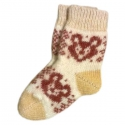 Детские шерстяные носки с рисунком-мишкой