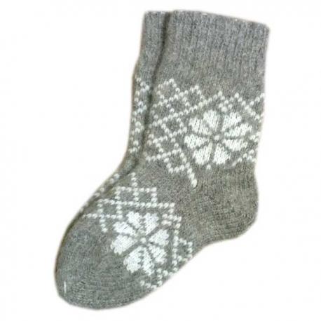 Детские шерстяные носки с рисунком-ромашкой