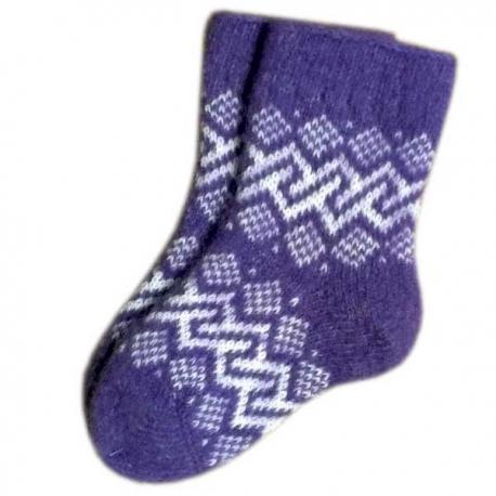 Детские шерстяные носки с орнаментом
