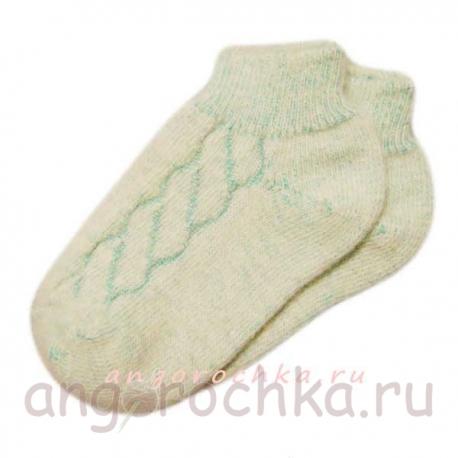 Кроткие теплые женские носки с резинкой