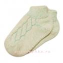 Короткие теплые женские носки с резинкой