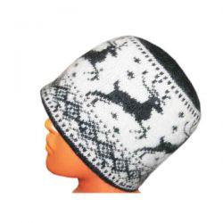 Вязаная шерстяная шапка с оленями